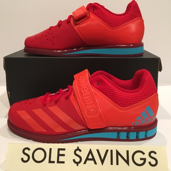 hot sale online 2470d 824ce Adidas Powerlift 3.1 Red Blue Weightlifting Shoes